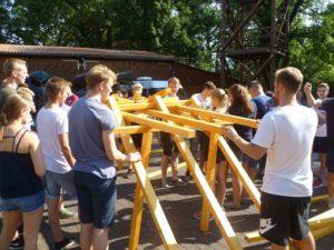 Teamtraining Brückenbau