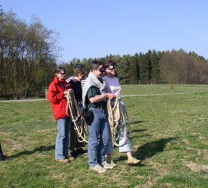 Blindseillegen Teamspiel
