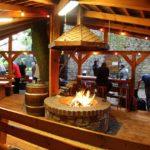Feuerstelle im Biergarten