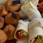 Pizzaschnecken,Mini Wraps, Mini Burger